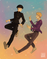 Mob Psycho 100: Actual Friends by Auro-Cyanide