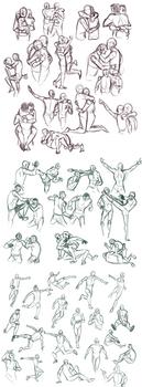 Practice: Gesture Sketches 3 by Auro-Cyanide