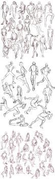 Practice: Gesture Sketches 4 by Auro-Cyanide