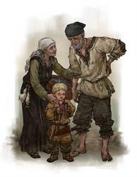Anglo-Saxon peasant family by quargon