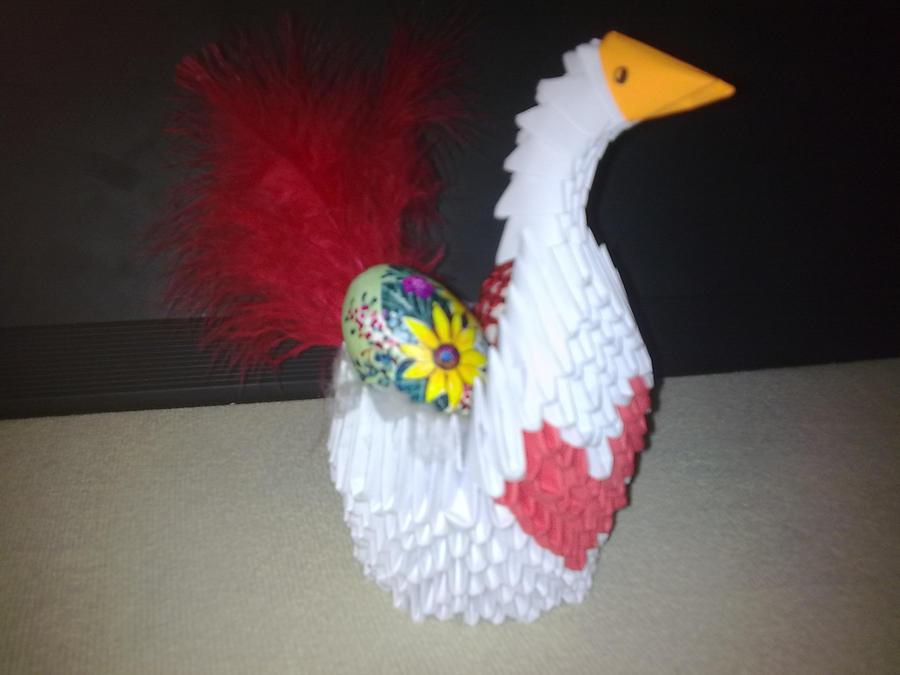 3d Origami Easter Swan By Michaelle111 On Deviantart