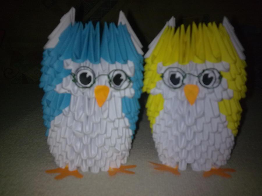 3D origami little owl by Michaelle111