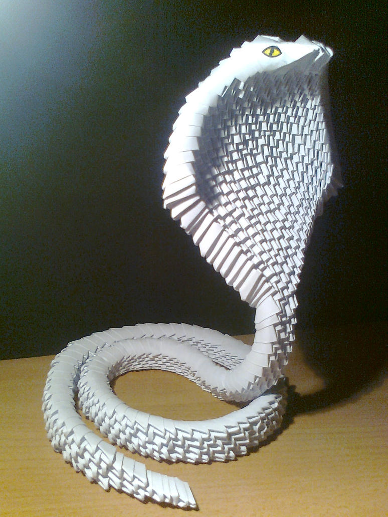 3D origami cobra by Michaelle111
