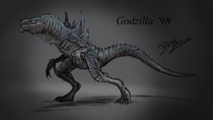 1 Hour -Godzilla 98 by pepezilla