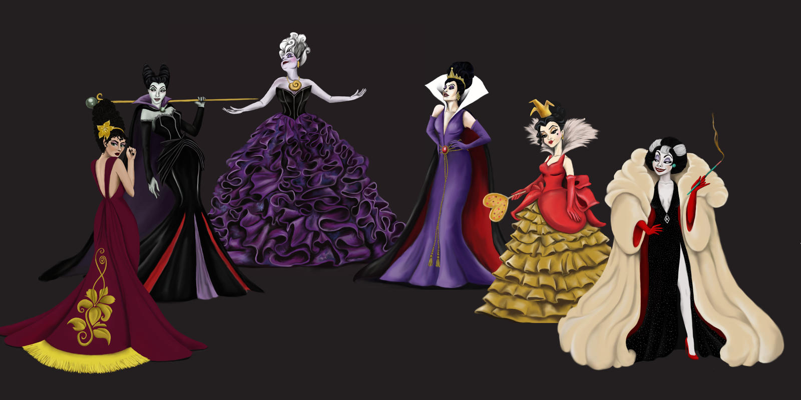 Disney Villains Designer Collection By Katifisen On DeviantArt