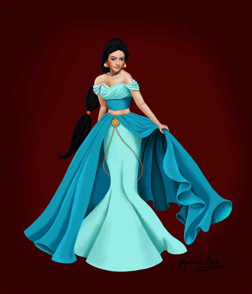 Jasmine - Disney Designer Princesses by Katifisen on DeviantArt