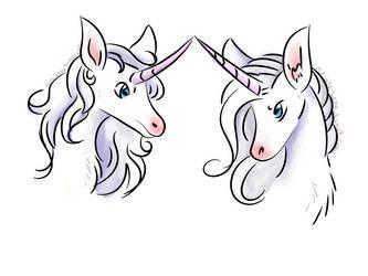 Quick Unicorn Doodles by SailorSun546