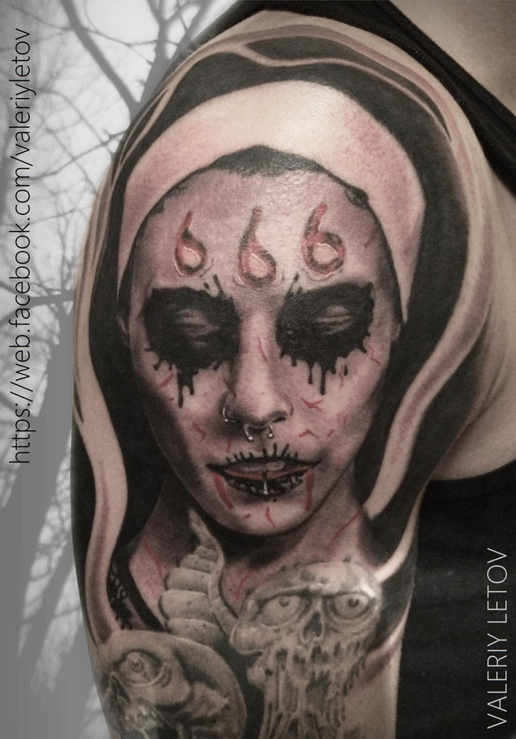 Satanic girl by ValeriyLetov
