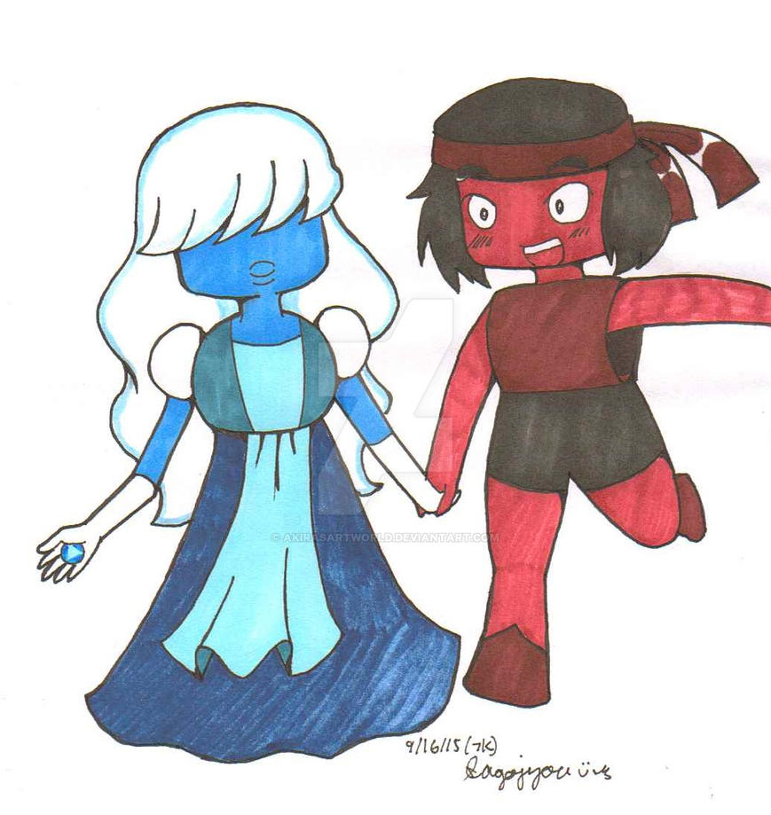 Su ruby and sapphire by akirasartworld on deviantart - Ruby and sapphire su ...