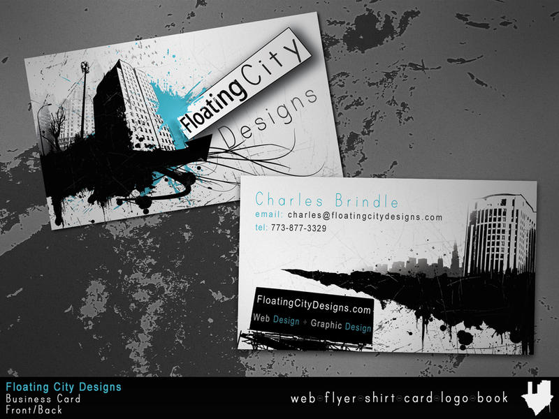 Floating City Business Card by truefreestyle on DeviantArt