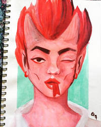 Callie From Ugly Americans by QuequitoQl