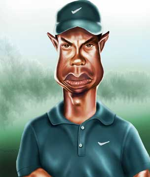 Tiger Woods Caricature by jonesmac2006