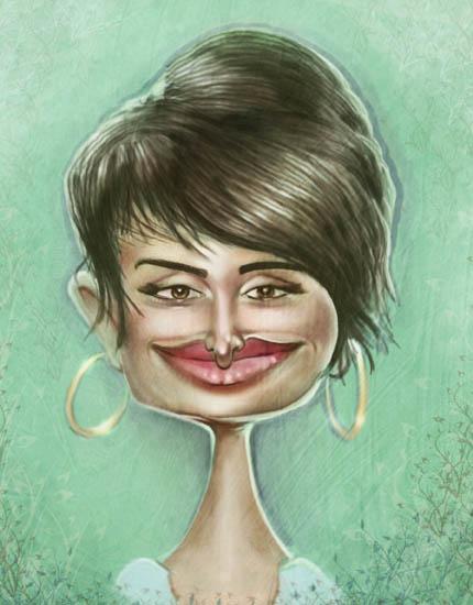 Caricaturas de famosos Penelope_Cruz_Caricature_by_jonesmac2006