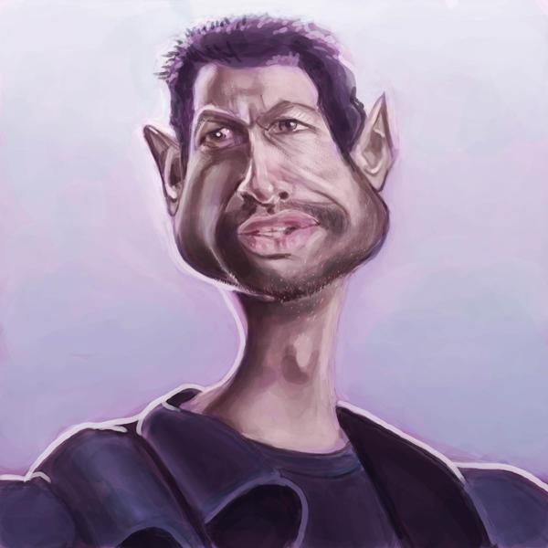 Jeff Goldblum Caricature by jonesmac2006