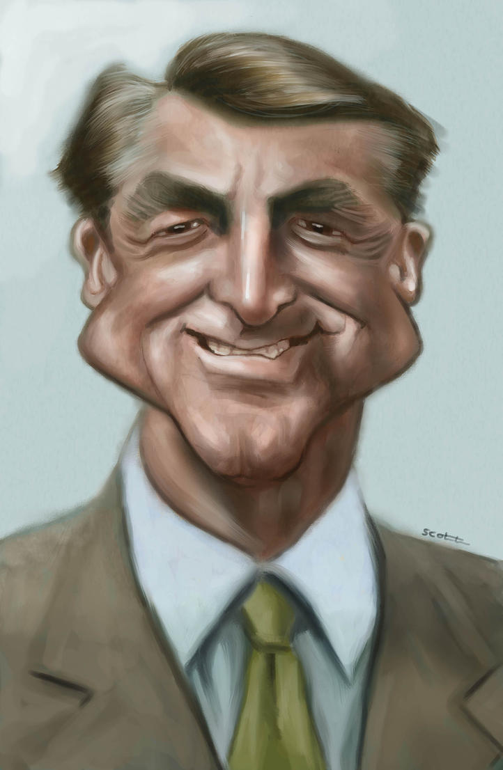 Cary Grant caricature by jonesmac2006