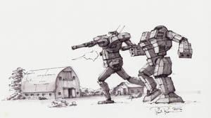 Battletech Fan Art - Davion Diehards by koalabrownie