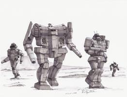 Battletech Fan Art - Awesome Leads the Way by koalabrownie
