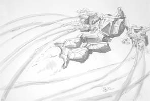 Battletech Fan Art - Summoner B by koalabrownie