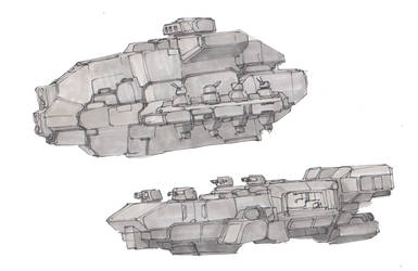 Starship Sketches #7 by koalabrownie
