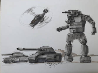 Combined arms patrol by koalabrownie