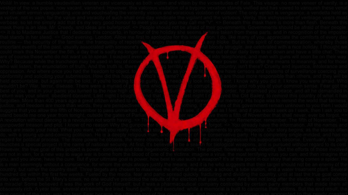 V For Vendetta Quotes Hd Wallpaper 1920x1080 By Swagirr On Deviantart