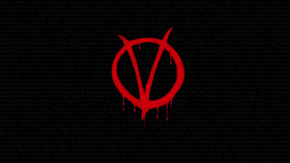 V For Vendetta Quotes Hd Wallpaper 1920x1080 By Swagirr On