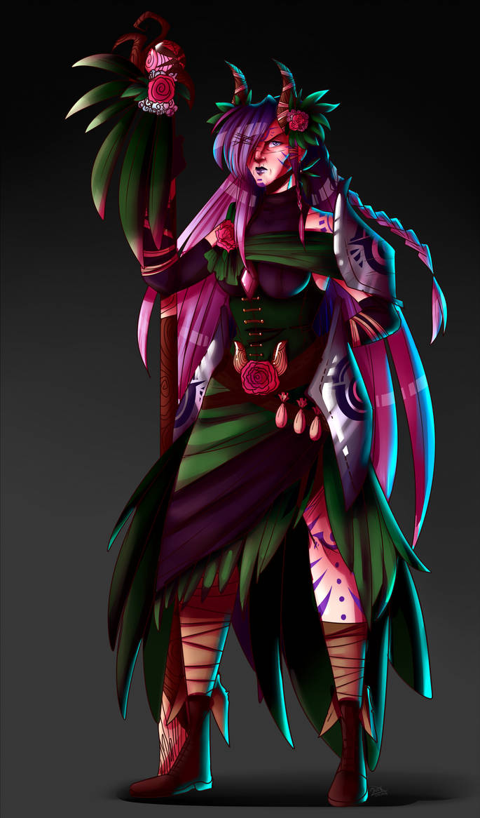 DnD: Mumi the Aasimar Druid by RingoNakishima on DeviantArt