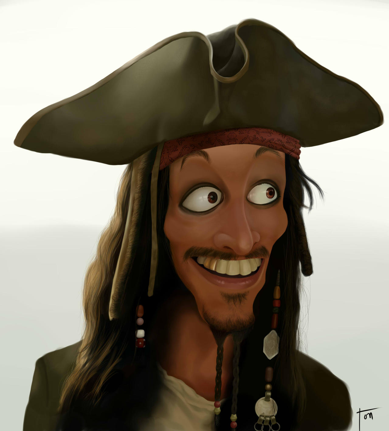 Jack Sparrow Caricature by AoK-TONyito
