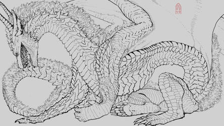 Dragon Profile Lineart (The Hiss 2)