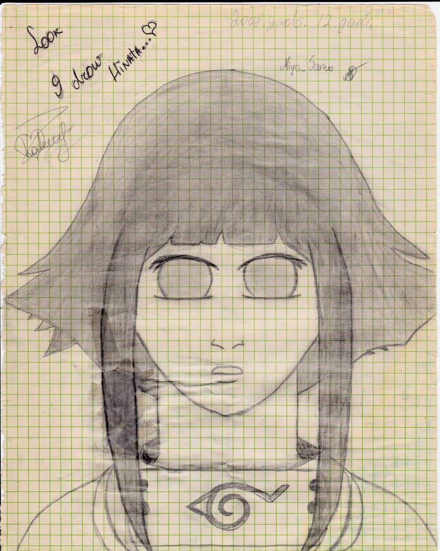 Look, I drew Hinata by MikaMika13