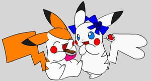 Pika-Hamtaro and Bijou