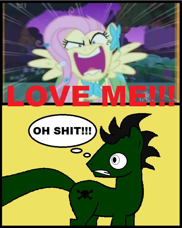 When Fluttershy wants love bad by Bioblood
