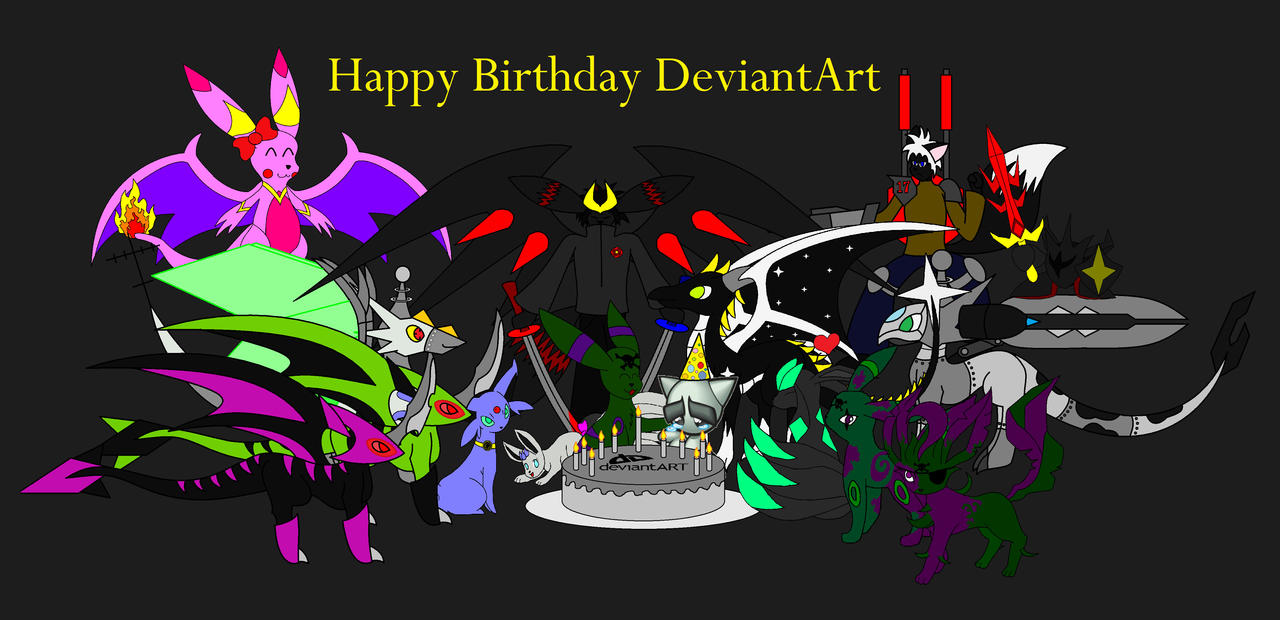 Happy birthday DeviantArt by Bioblood
