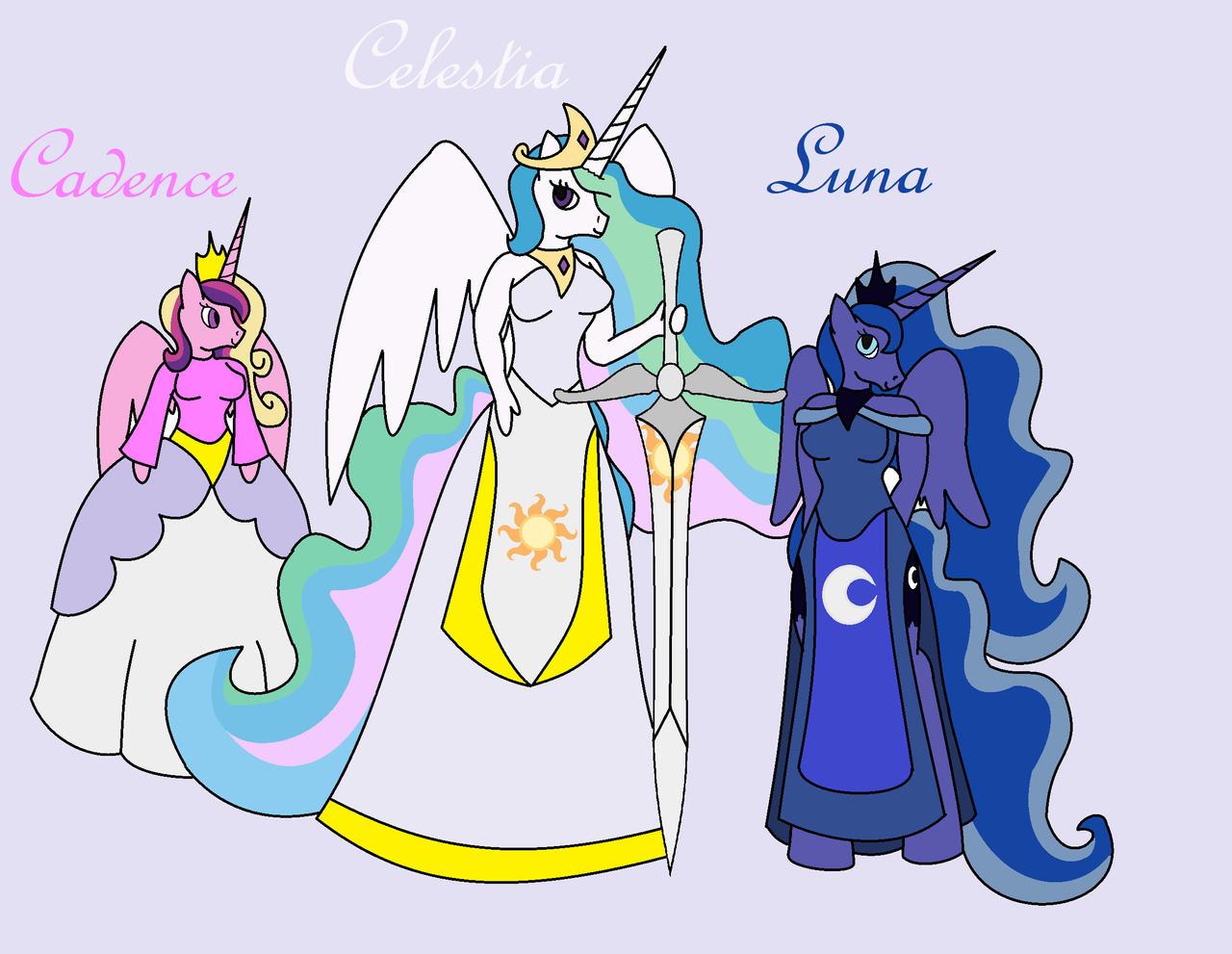 Is princess cadence related to celestia
