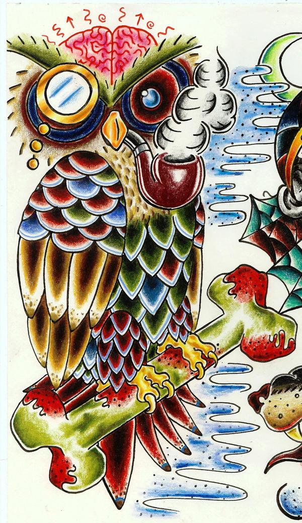 Brain Owl by 1-Dollarmenu-1