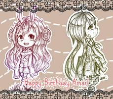 G: HAPPY BIRTHDAY AMAI! by x3urara
