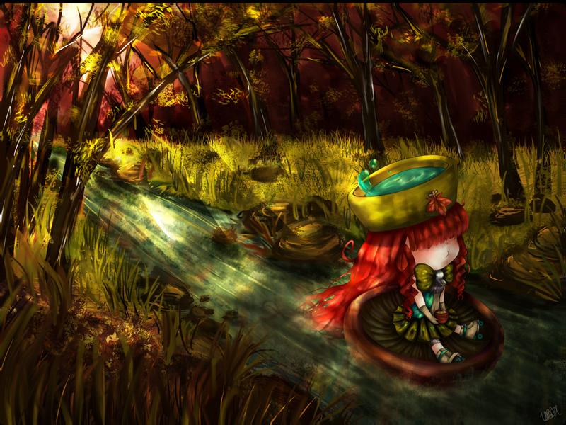Floating in Autumn by x3urara