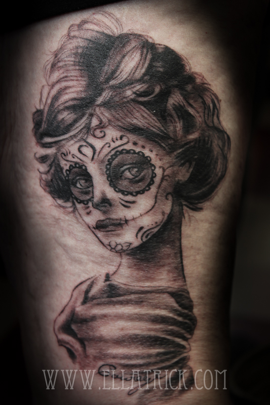 Day of dead girl by mange