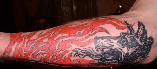 neurosis tattoo by mange