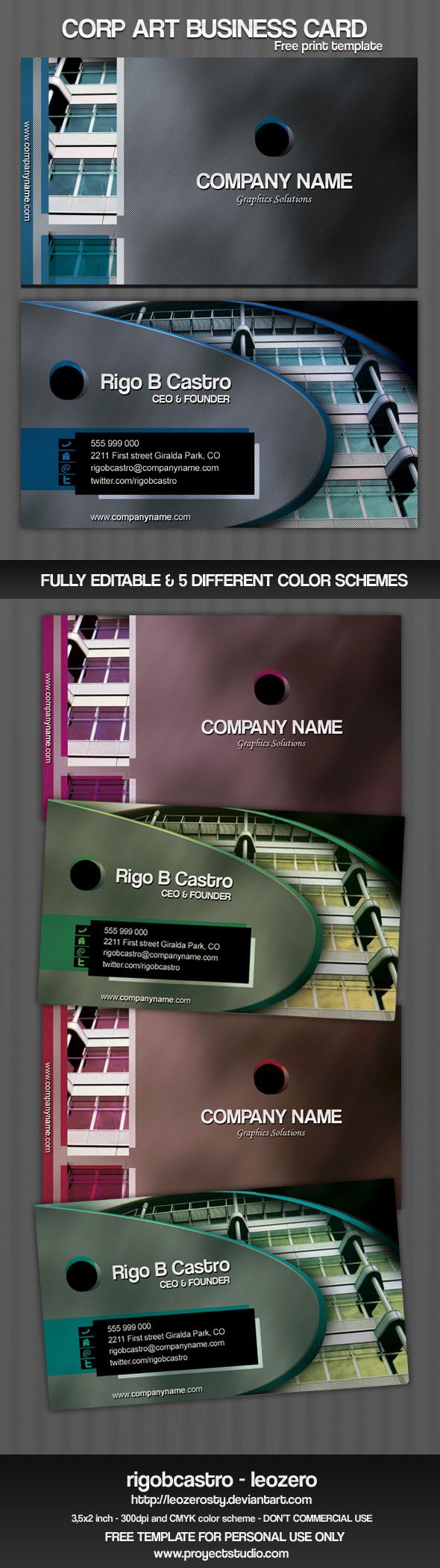 Corp Art Business Card by leozerosty