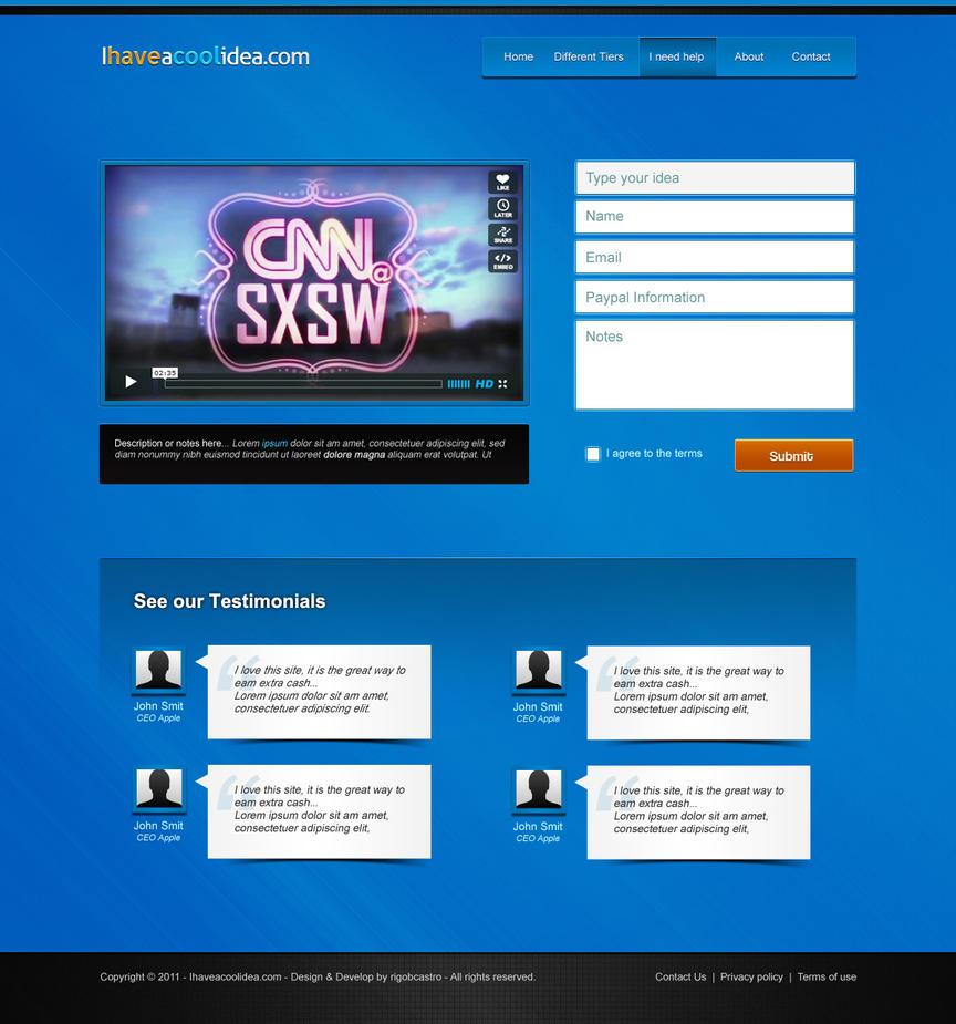 IHCI - Landing Page by leozerosty