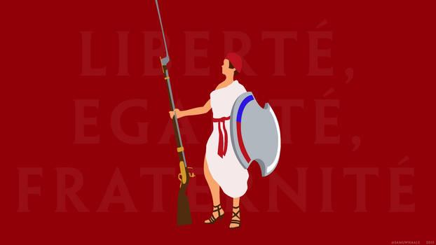 Minimalistic Liberte Athena Wallpaper
