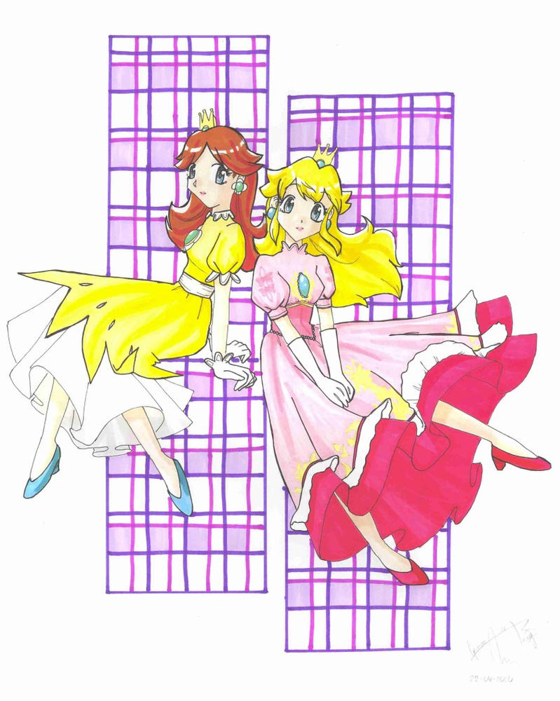 Peach and Daisy Making Out