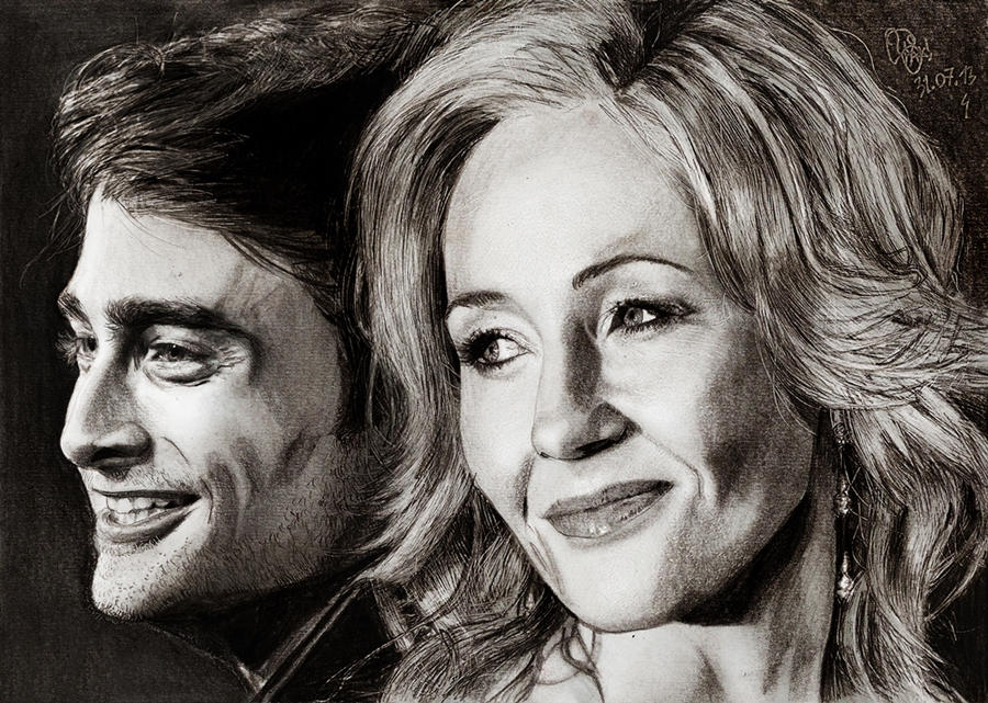 J.K Rowlind and Daniel Radcliffe by Williaaaaaam