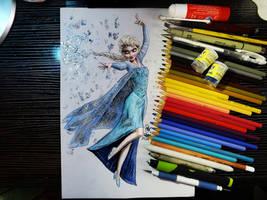 Queen Elsa of Arendelle by Williaaaaaam