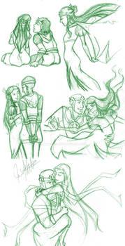 Sketchdump - Loki x Leah