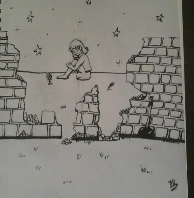 Inktober 2017#4 Breaking Down the Walls by kwalart