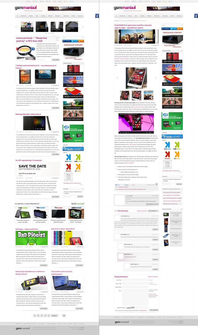 Redesign of GSMManiak - Website by michaelPL