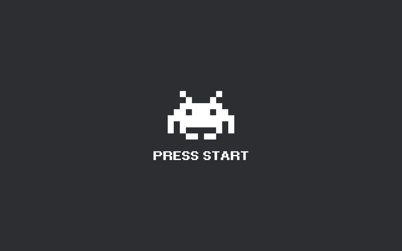 Space Invaders, Press Start by Tomstabbins