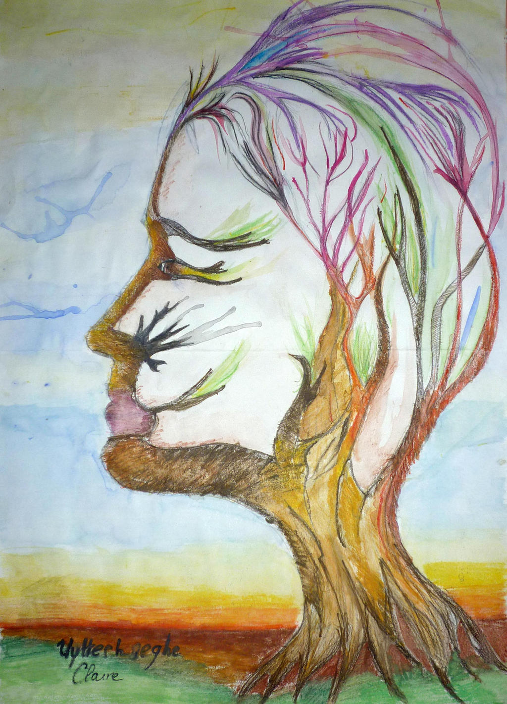 Self portrait tree by erialc15
